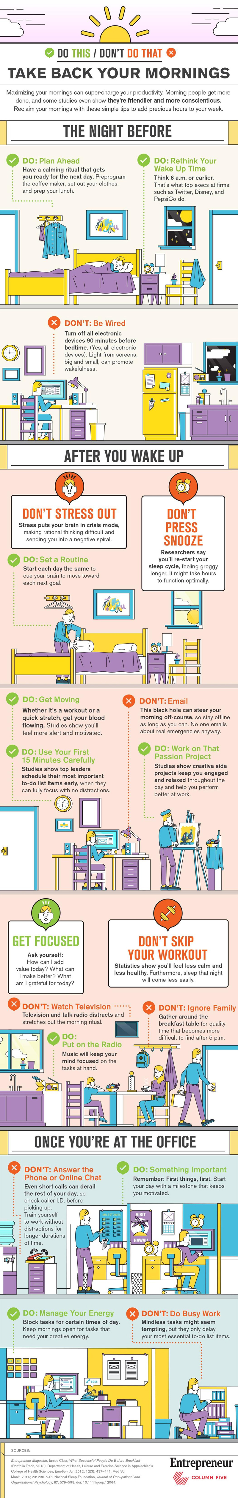 Take Back Your Mornings Infographic