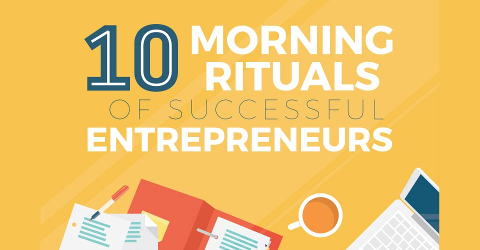 10 Morning Rituals of Successful Entrepreneurs [Infographic]