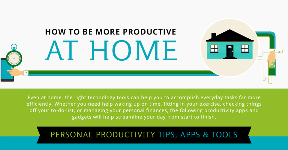20 Apps to Be More Productive at Home [Infographic]