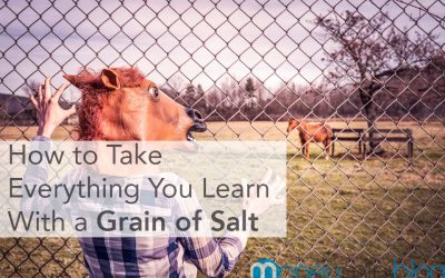 How to Take Everything You Learn With a Grain of Salt