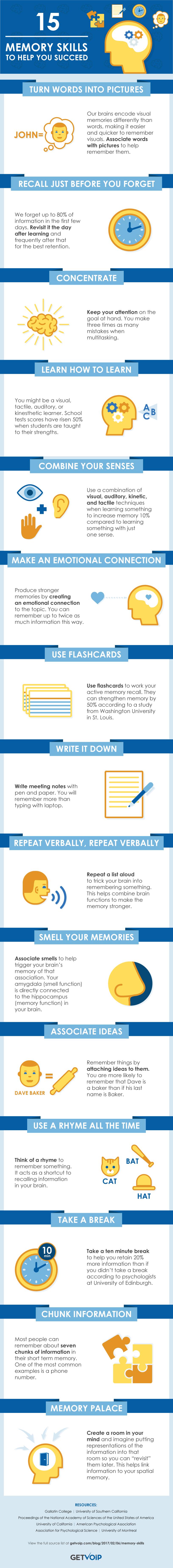 improve memory infographic skills