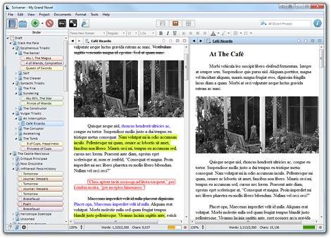 scrivener writing tool