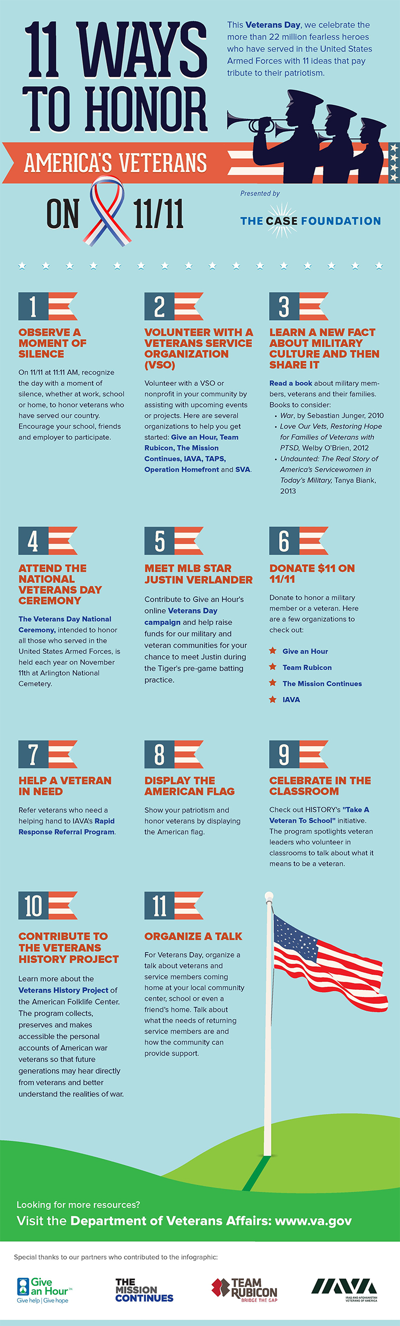 ways to support veterans infographic