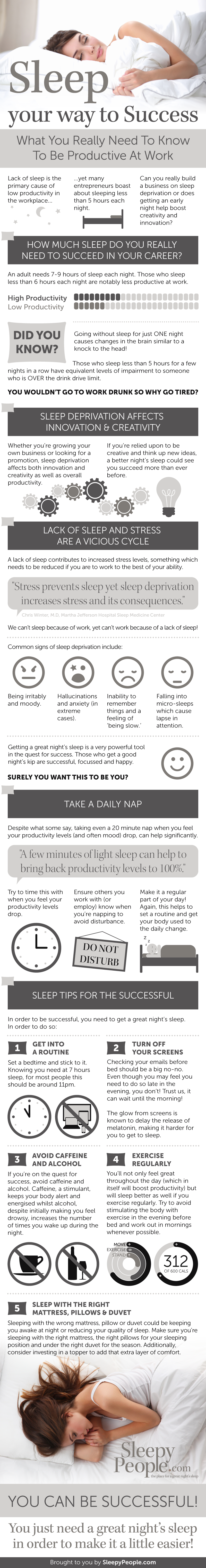 sleep your way to success infographic