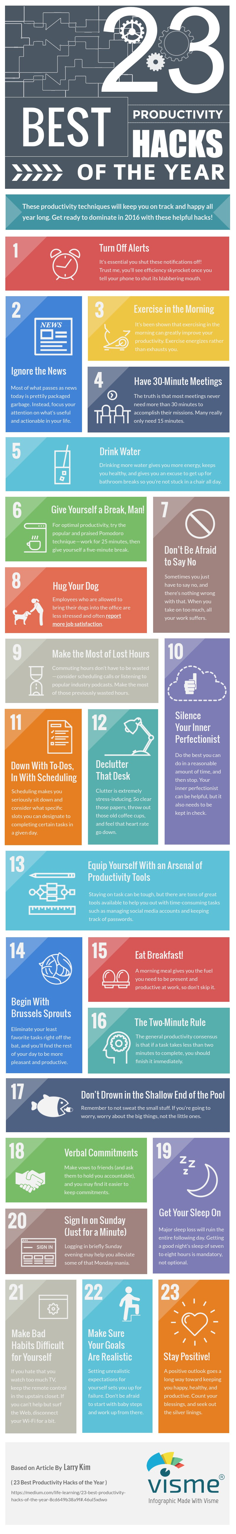 productivity hacks infographic